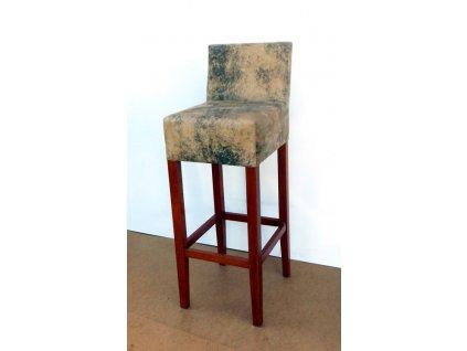 Barová židle B 090 s opěrkou - VÝPRODEJ 2 ks