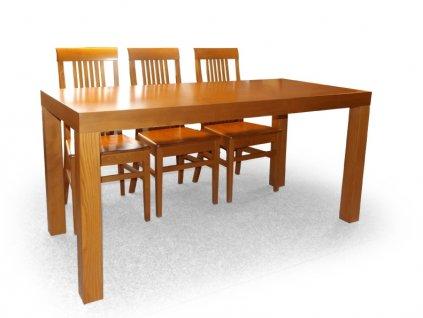 Dýhovaný jídelní stůl NOE pevný