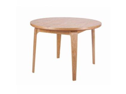 Kruhový rozkládací jídelní stůl ARGO z dubu s průměrem 110 cm