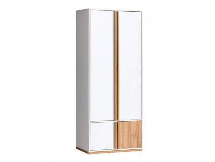 2-dveřová skříň, ořech select / bílá, KNOX E1