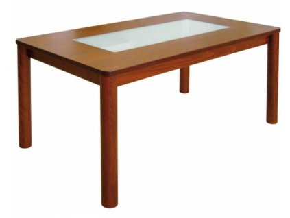 Jídelní stůl PEDRO se skleněnou deskou