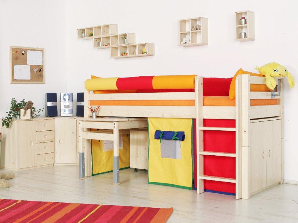 Skříň k patrové posteli dvířková (Buk cink Moření)