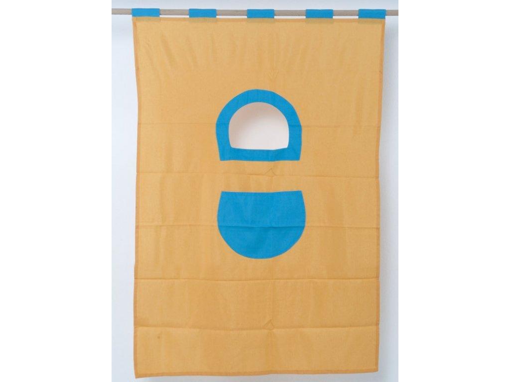 Textilie 7-palanda nízká 1610 mm-žlutotyrkysová