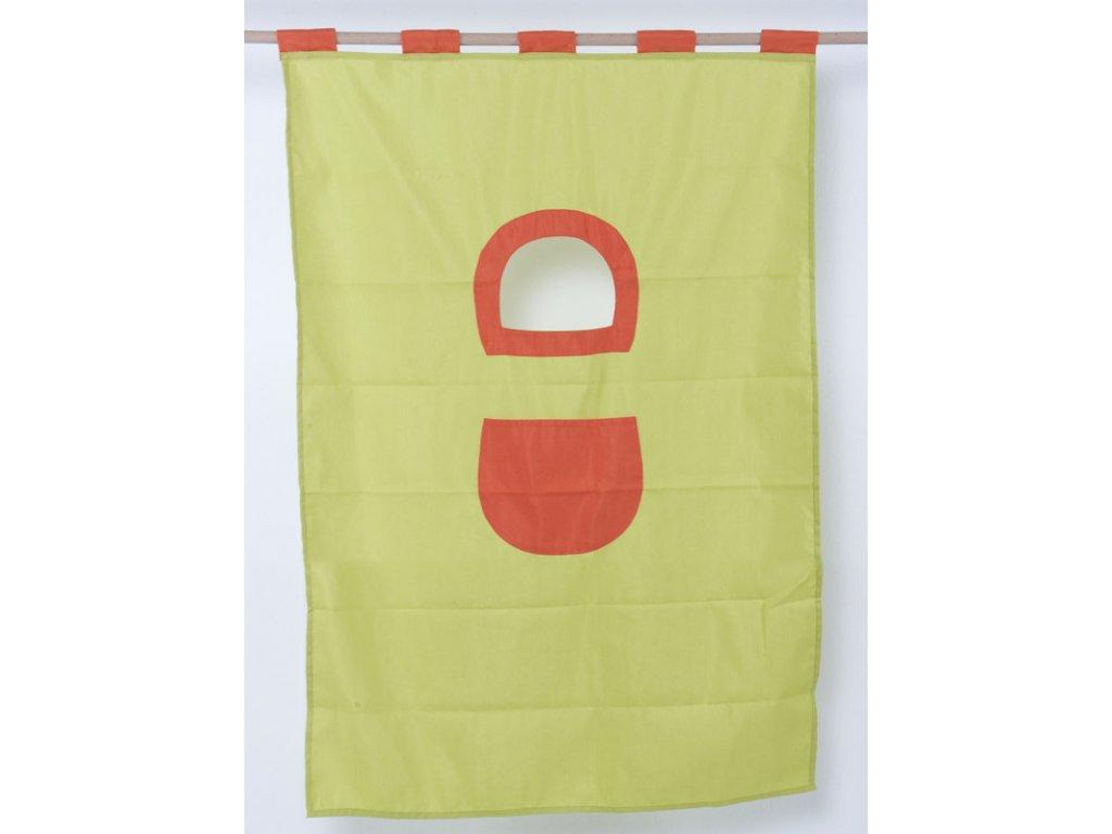 Textilie 7-palanda nízká 1610 mm (Barva zeleno-růžová)