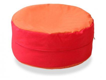 Sedací polštář (Barva růžovo-šedá)