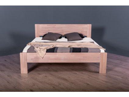 Masivní postel ALEXIA (Dřevo a odstín oleje BUK Cink - Olejování přírodní, Rozměr spací plochy 140x200)