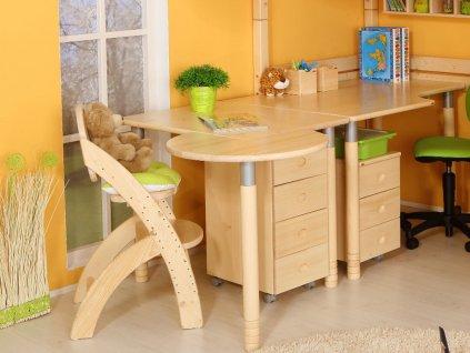 Židle Klára 1-dětská polohovací (Buk cink Moření)