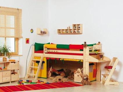 Židle Klára 2-dětská polohovací (Buk cink Moření)