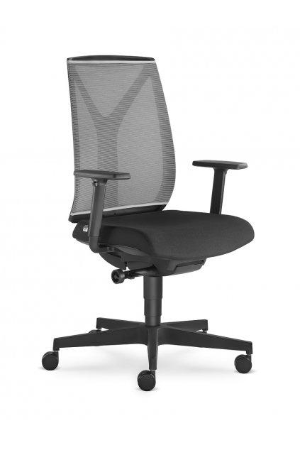 Kancelářská židle LEAF 503 SYS - BR209 černý kříž