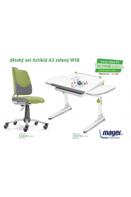 MAYER CZ KIDS set A3 zelený W58 CZK 2021 10