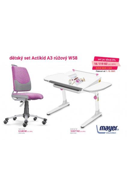 MAYER CZ KIDS set A3 růžový W58 CZK 2021 10