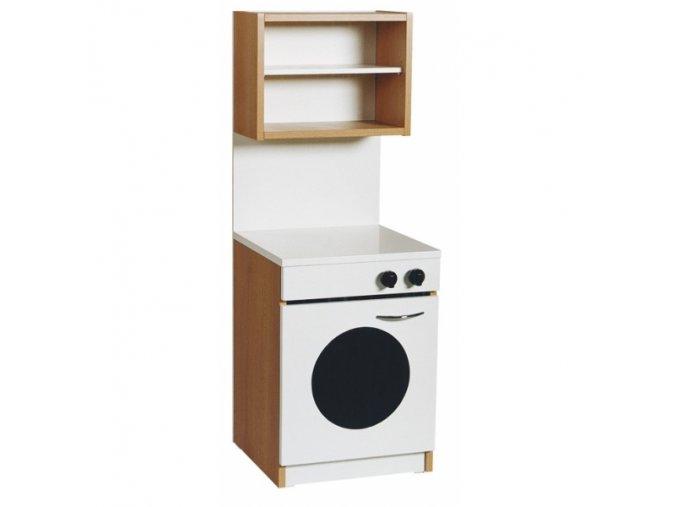Skříňka s pračkou