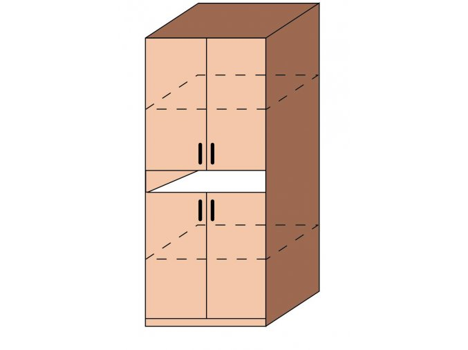 Skříň dveřová dělená ET-04