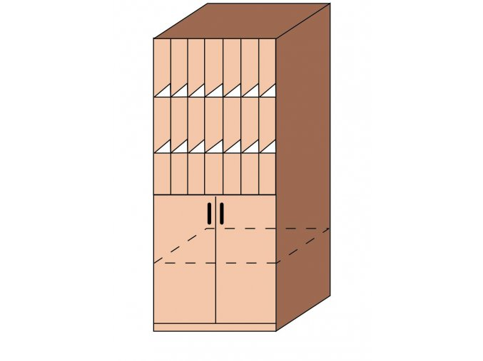 Skříň na šanony kombinovaná ET-07