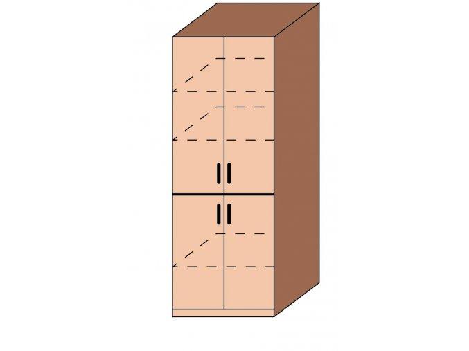 Skříň čtyřdveřová ET-08
