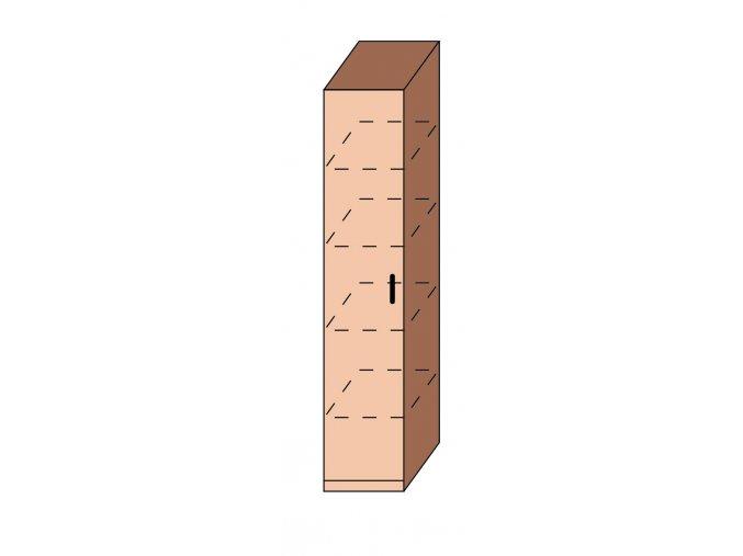 Skříň úzká dveřová ET-15
