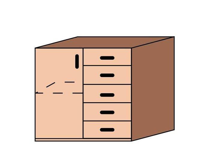 Skříňka se zásuvkami ET-42