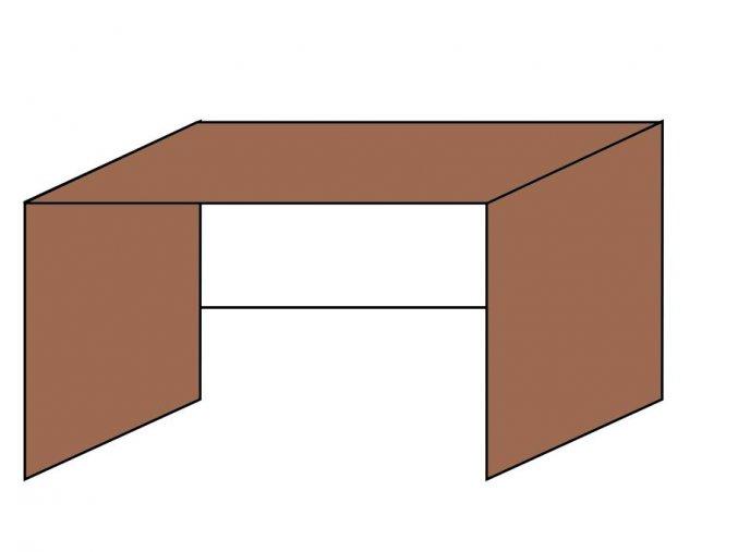 Stůl kancelářsky pro kontejner 120 x 70 ETS-30
