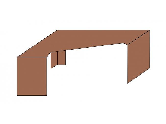 Stůl rohový L-P ETS-35/A