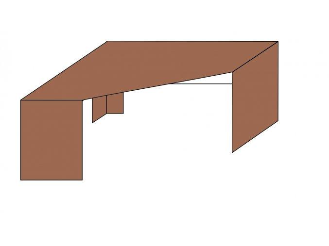 Stůl rohový L-P ETS-35/B