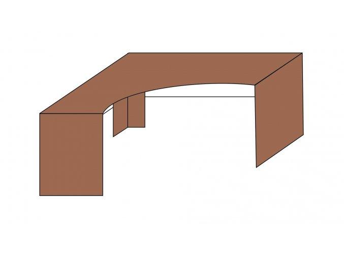 Stůl rohový L-P ETS-36