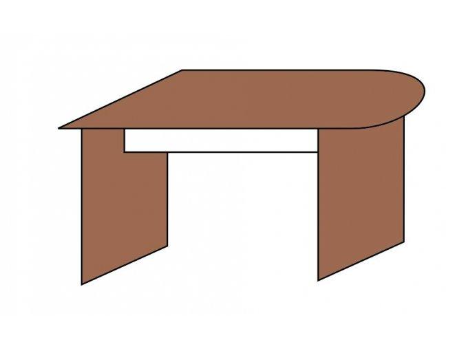 Stůl jednací půlobloukový 120x70  ETS-39