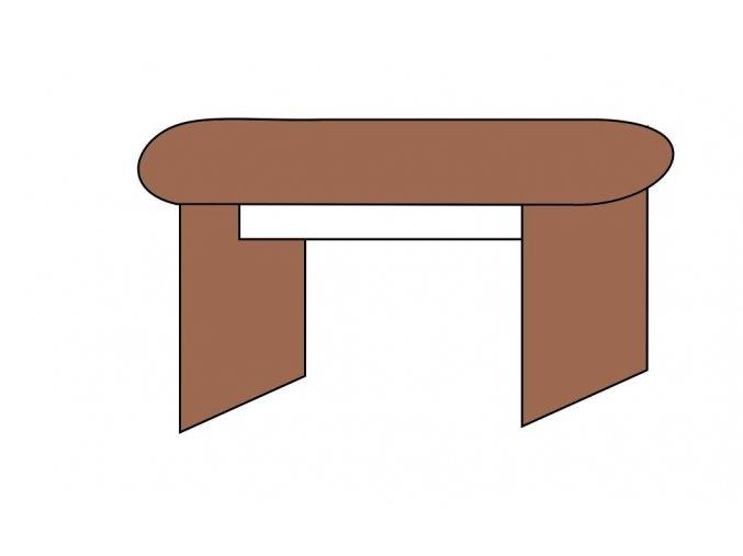 Stůl jednací obloukový 160x70  ETS-41