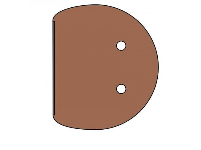 Stůl přídavný kruhový 115x76  ETS-46
