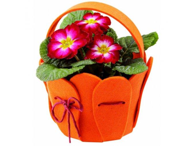 Květináč ve tvaru košíku