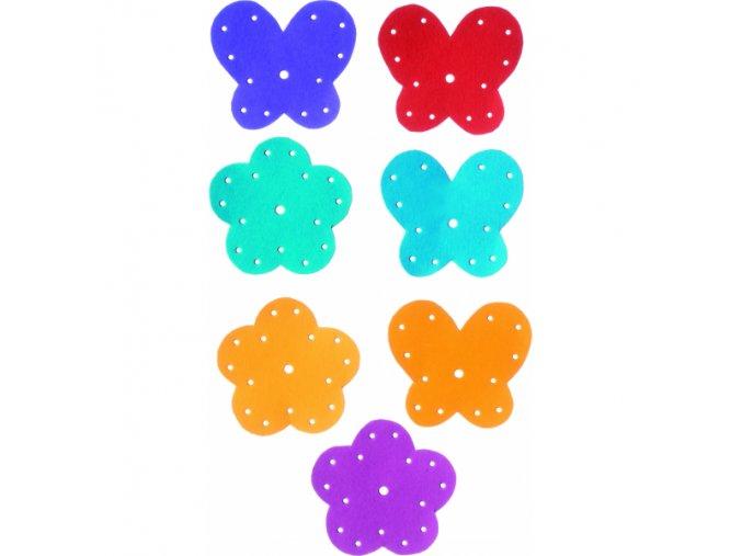 Závěsné dekorace - kytky a motýli
