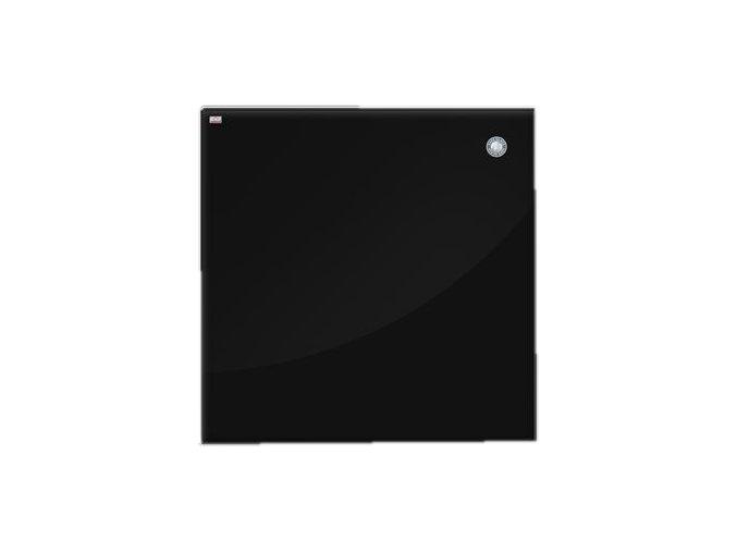 Magnetická skleněná tabule - černá 45 x 45 cm
