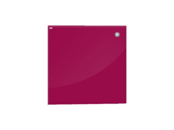 Magnetická skleněná tabule - červená 45 x 45 cm
