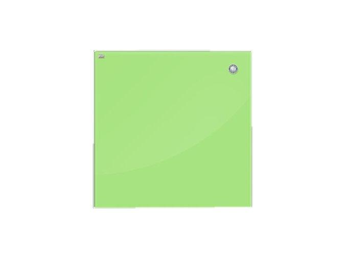 Magnetická skleněná tabule - zelená 45 x 45 cm