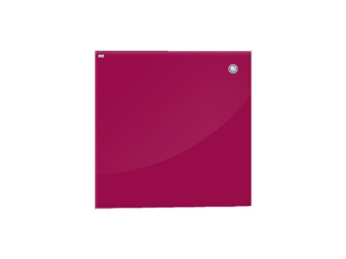 Magnetická skleněná tabule - červená 40 x 60 cm