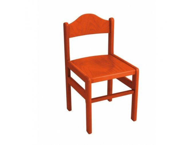 Židlička dřevěná barevná