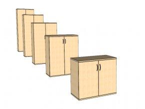Dveřová skříň S2