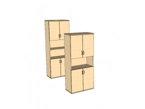 Dveřová skříň s nikou S10