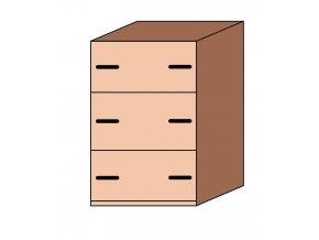 Skříňka zásuvková pro pořadače ET-34