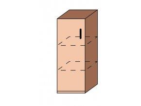 Skříňka úzká dveřová ET-35