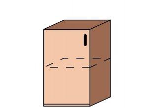 Skříňka úzká dveřová ET-43