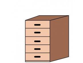 Skříňka úzká zásuvková ET-45