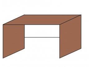 Stůl kancelářsky pro kontejner 160 x 70 ETS-31