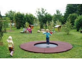 Trampolína v zemi - kruhová
