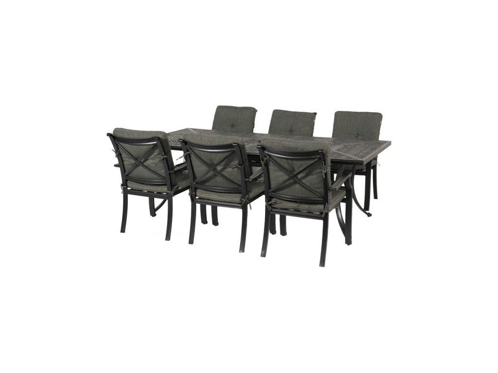 obdélníkový stůl s grilem