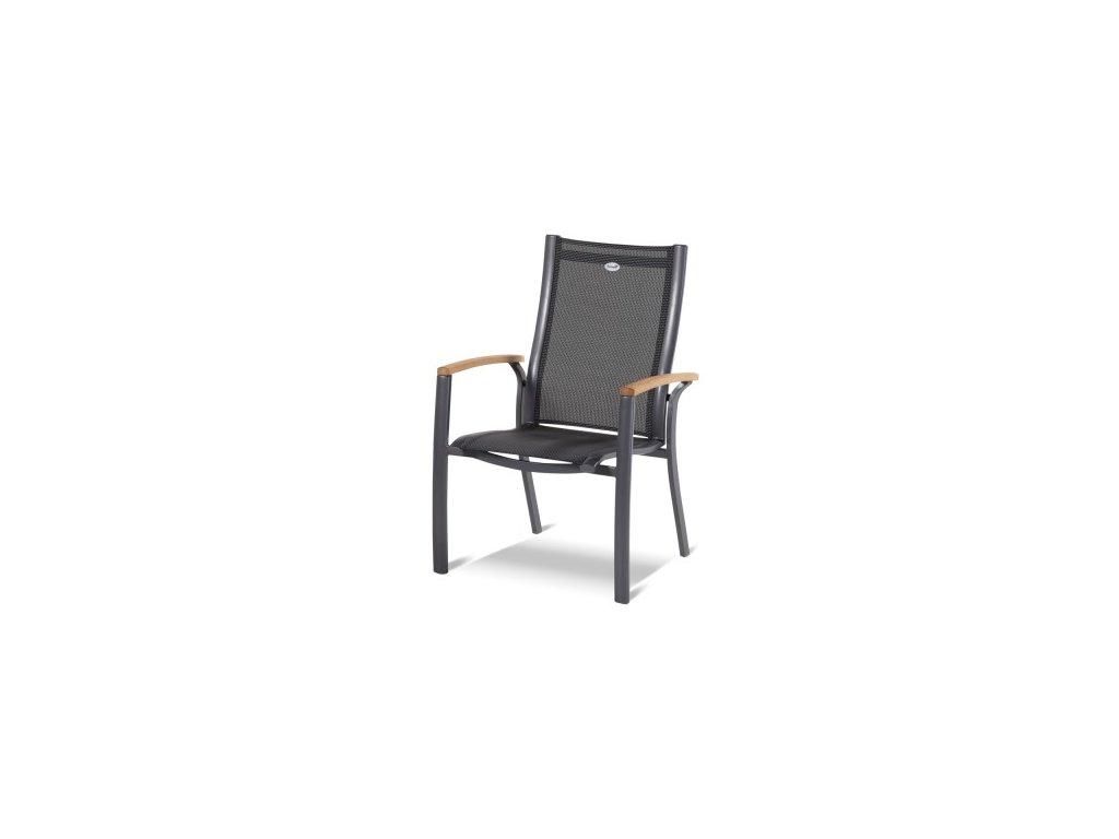 Belcampo pevná židle s teakovými područkami