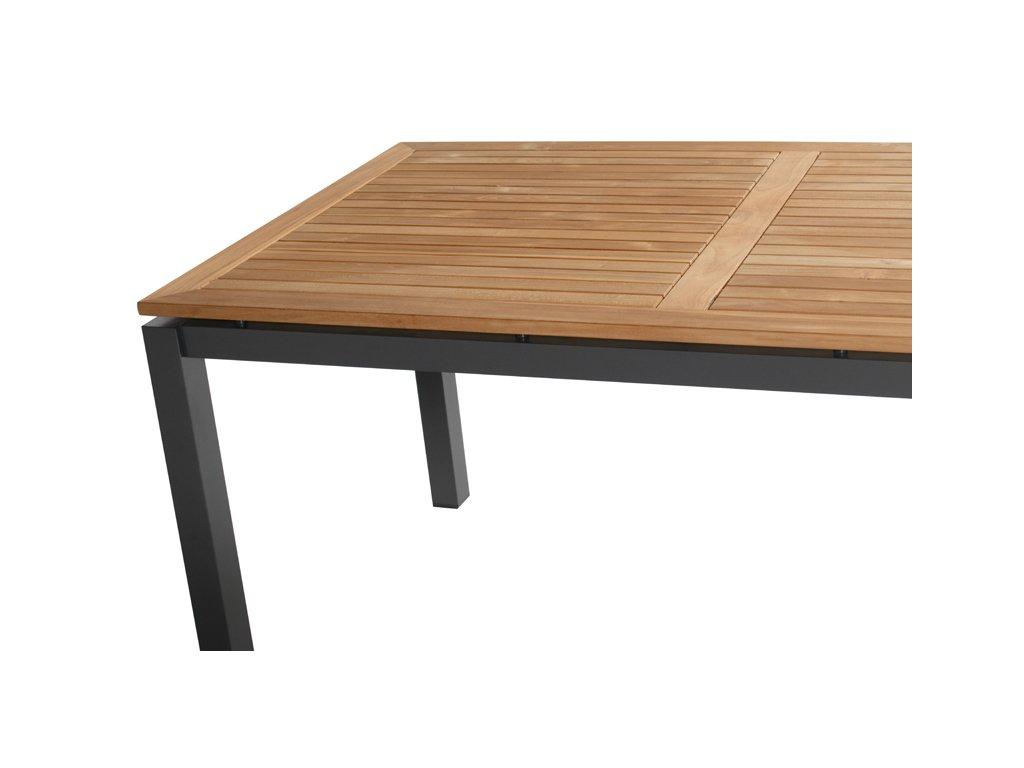 zahradní stůl v kombinaci dřeva a hliníku