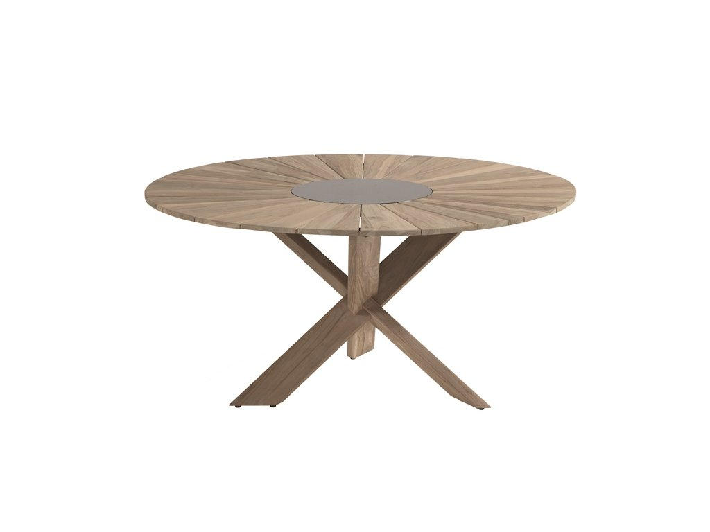 zahradní stůl Provence Crossleg  teak light grey