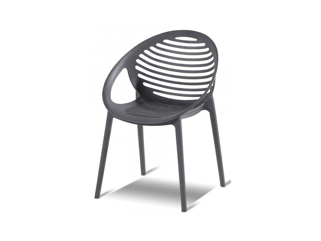 plastová židle šedá