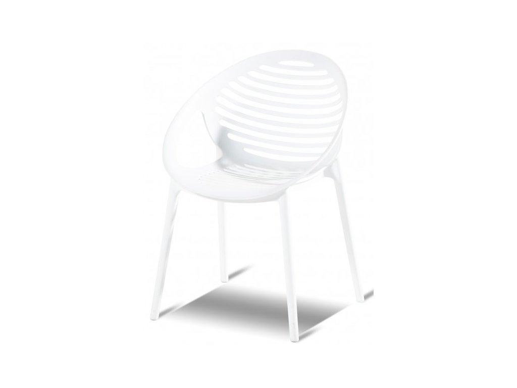 plastová židle bílá