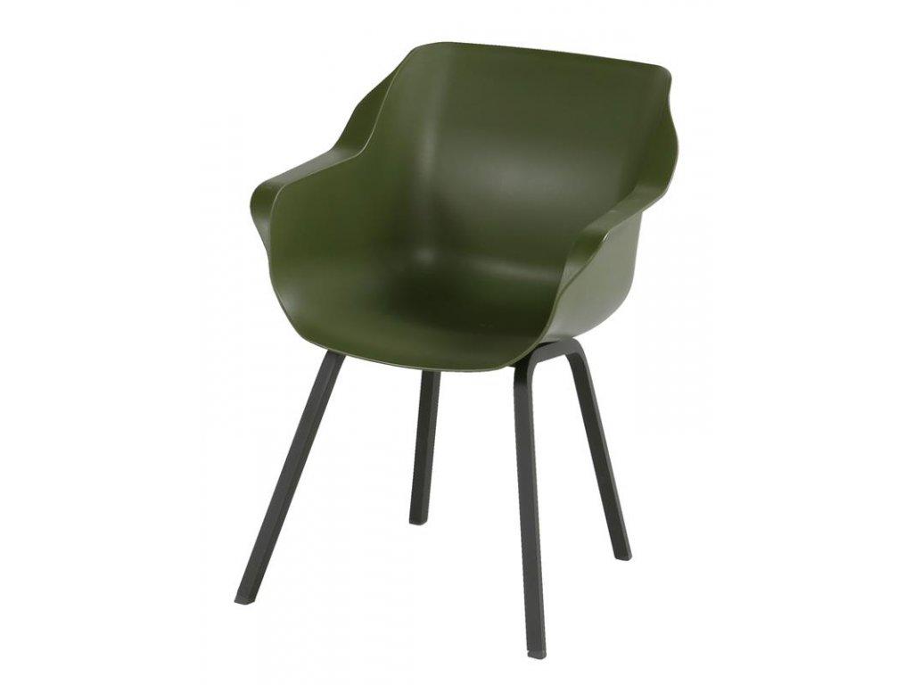 zelená jídelní židle Hartman